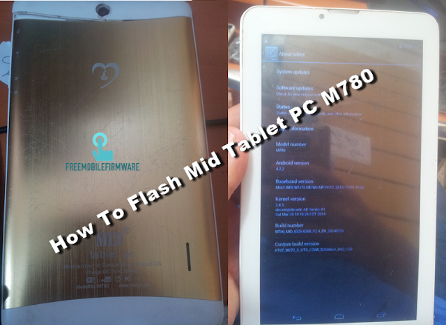 How To Flash Mid Tablet PC M780 Tested Firmware