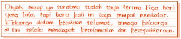 Contoh soal bahasa indonesia tentang surat pribadi