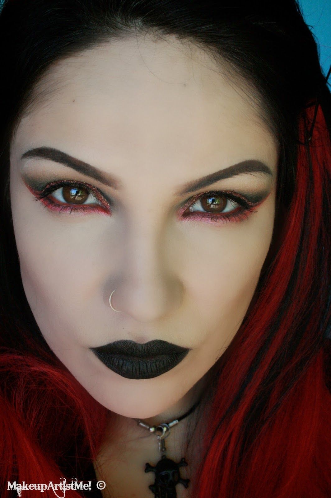 Make Up Fashion And 50 Shades Of Pink: Make-up Artist Me!: My Goth! Makeup Tutorial