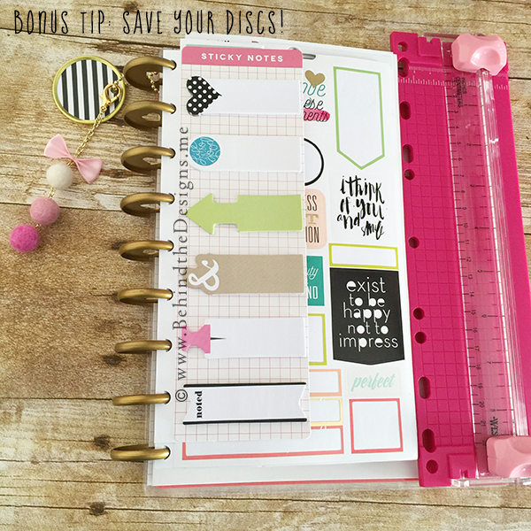 Bonus Tip to Create the Perfect Planner Save Your Discs | Behind the Designs DIY Craft and Planning Blog