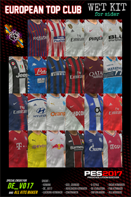 PES 2017 European Top Club Wet Kit 18/19 by AK-RF Mods