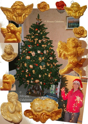 Christmas three with handmade angels