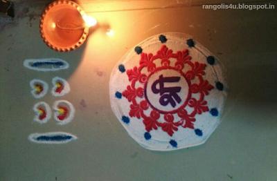 Rangolis for Ganesh Utsav