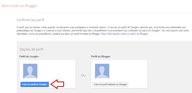 Como criar uma conta no blogger