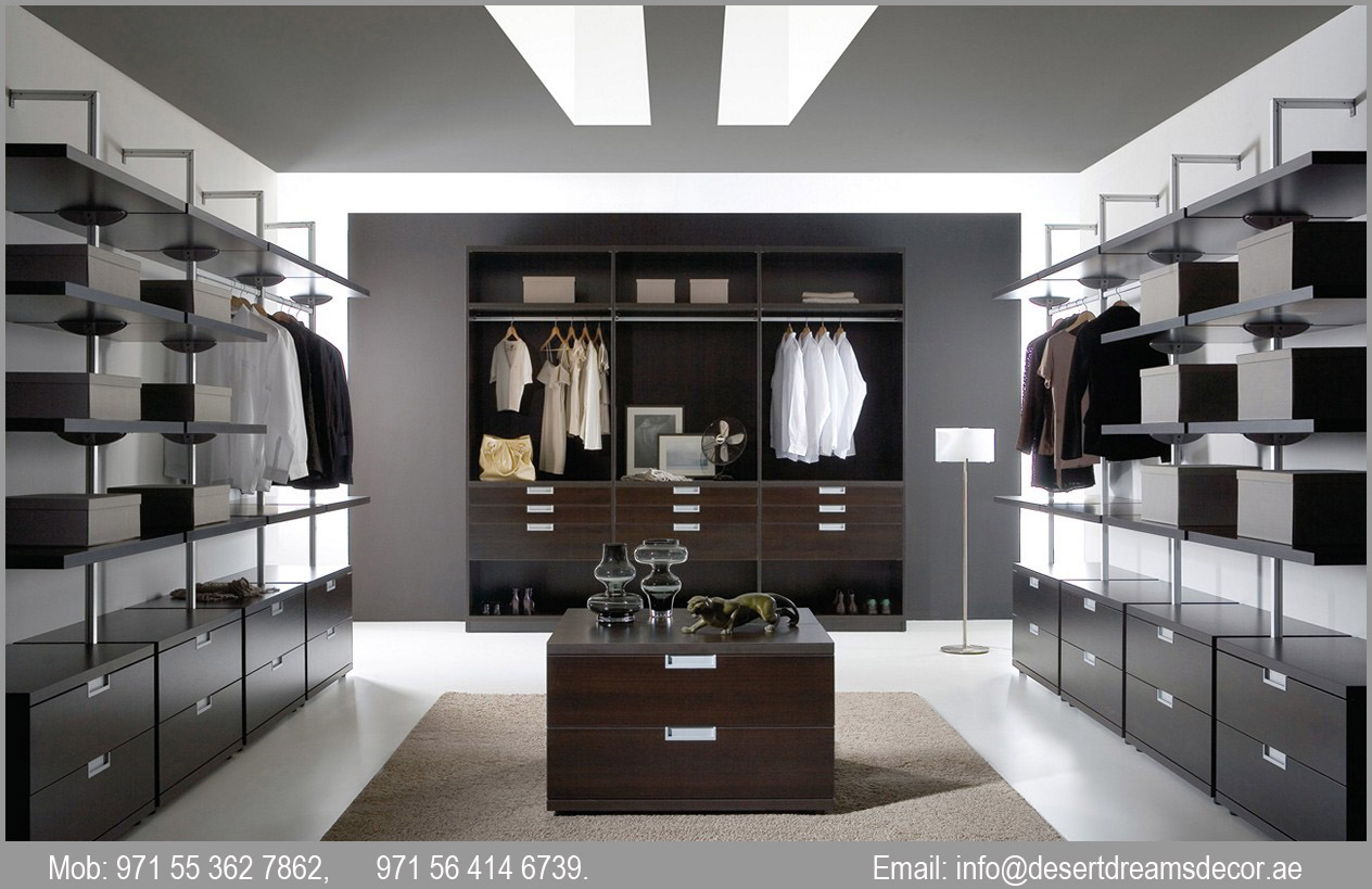 Large Closets custom built cabinets in uae | walk-in closets | wooden cabinets