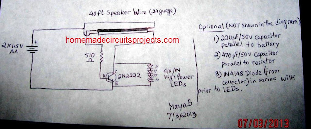 joule thief using flexible wires