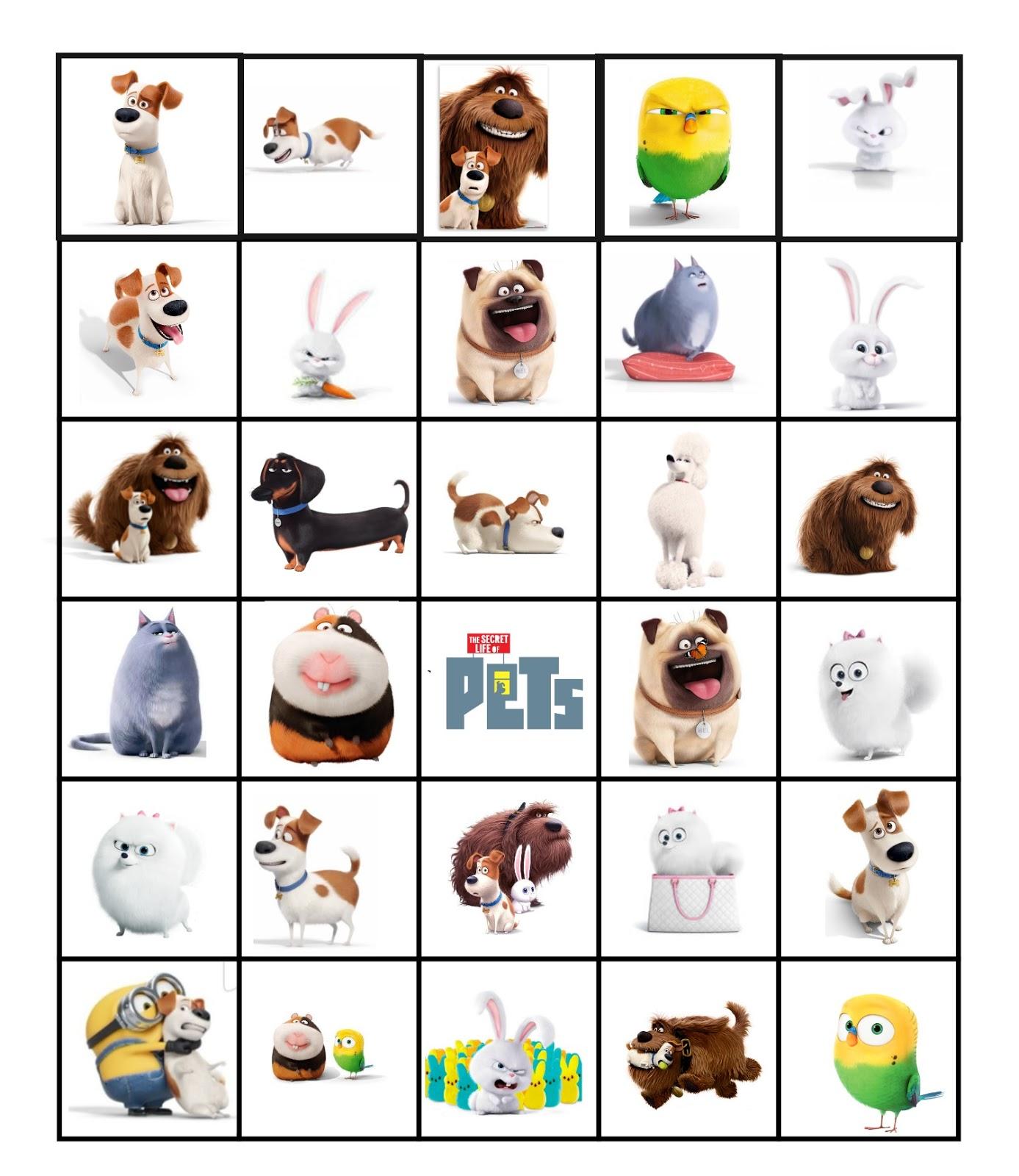 Musings Of An Average Mom Secret Life Of Pets Bingo