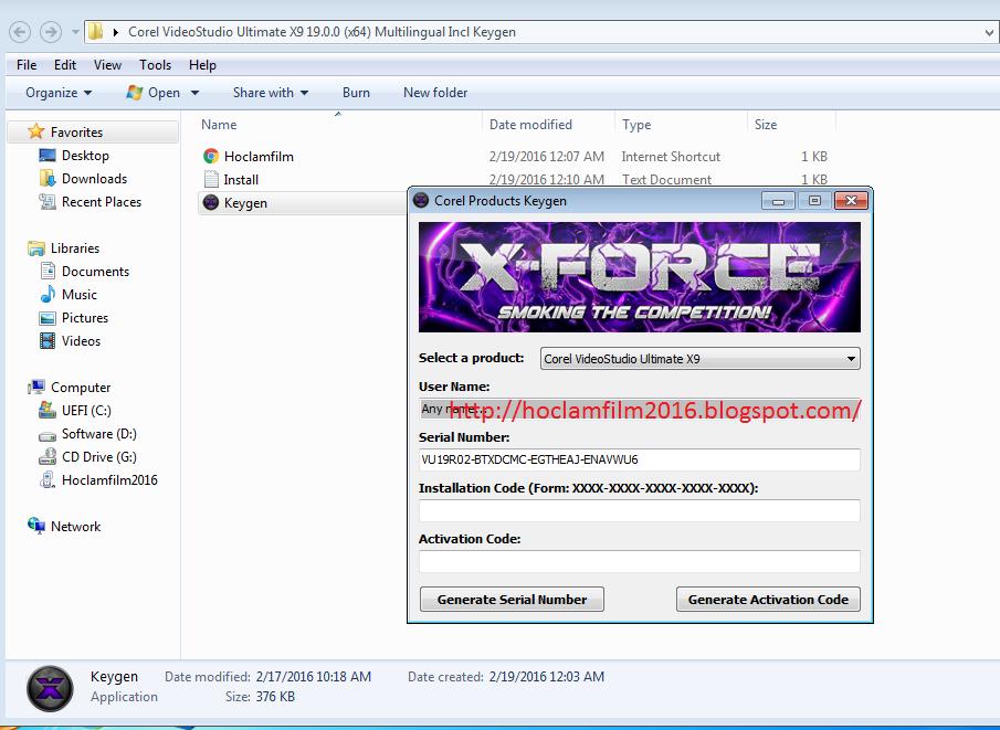 corel videostudio x9 serial number
