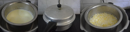 how to make Akkaravadisal in pressure cooker