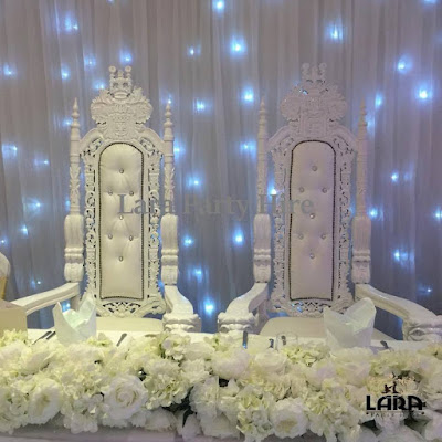 LARGE WEDDING THRONE CHAIRS WHITE
