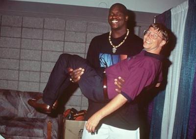 Shaquille O'Neal y Bill Gates