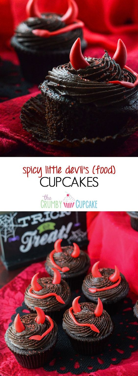 SPICY DEVIL'S FOOD CUPCAKES