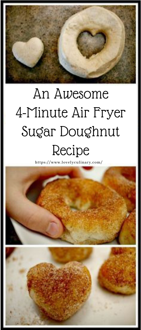 An Awesome 4-Minute Air Fryer Sugar Doughnut Recipe #dessert #cake