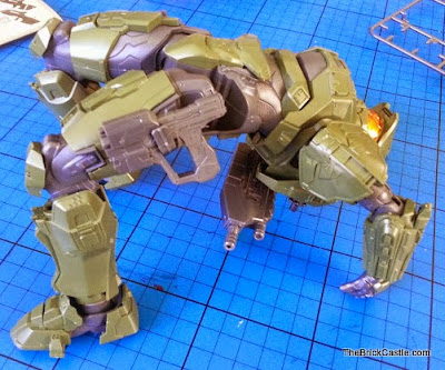 Halo Master Chief John Level 3 Bandai SpruKit back flip