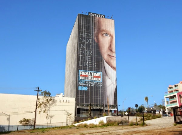Giant Real Time with Bill Maher season 13 billboard Sunset Strip