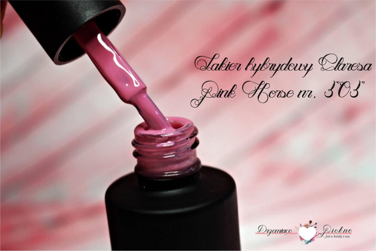 Lakier Hybrydowy Claresa Pink Horse 505 | Nowa formuła lakierów hybrydowych Claresa | Nowości wiosna / lato 2017 | Jak z ich jakością?