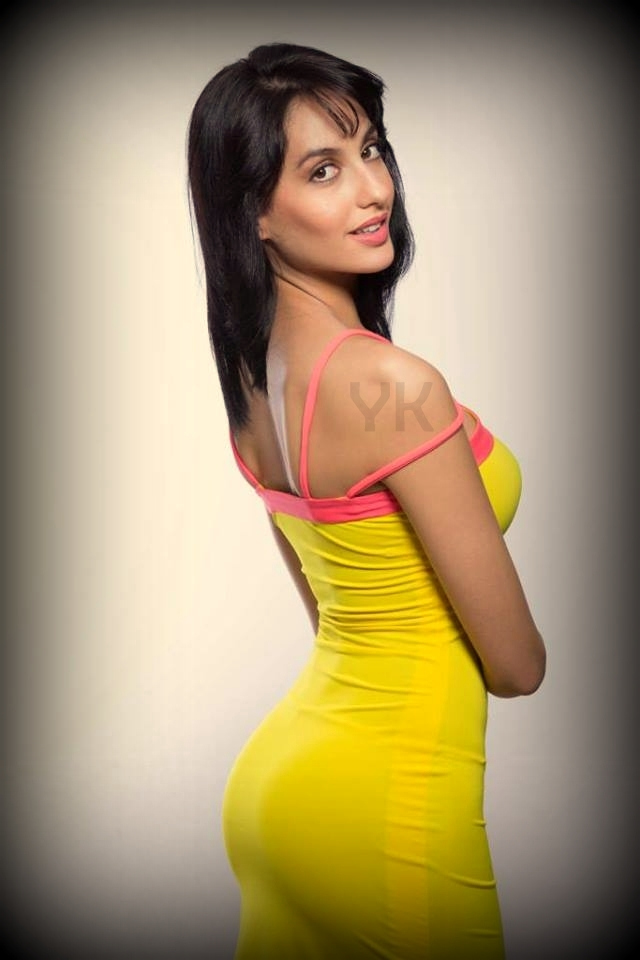 Nora Fatehi in Yellow Dress
