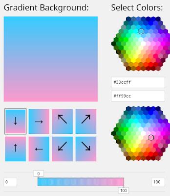 Gradient Online tool, Free color gradient, Background gradient
