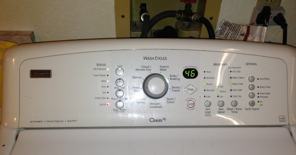 Did This Really Work Kenmore Oasis Off Balance Spin