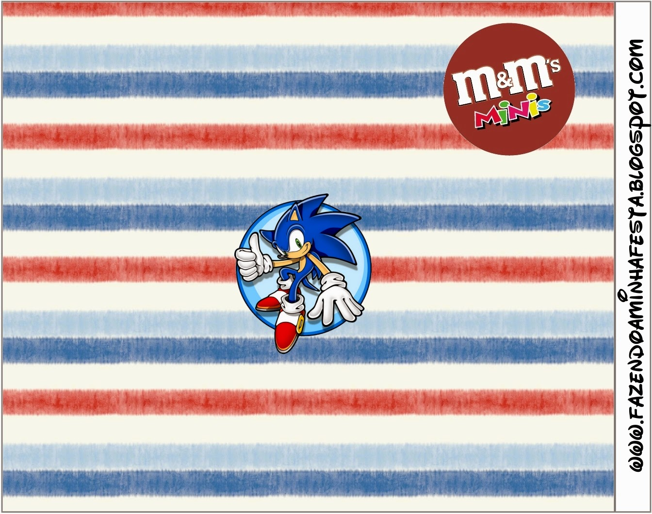 Free Printable M&M Candy Bar Labels for Sonic.