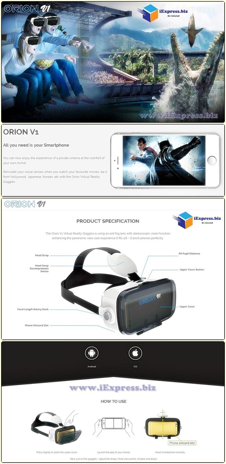 0ecaa9ba3f9a You Shop . I Import   PRE-ORDER  ORIGINAL ORION V1   S1 (with Audio) VR  GOGGLES