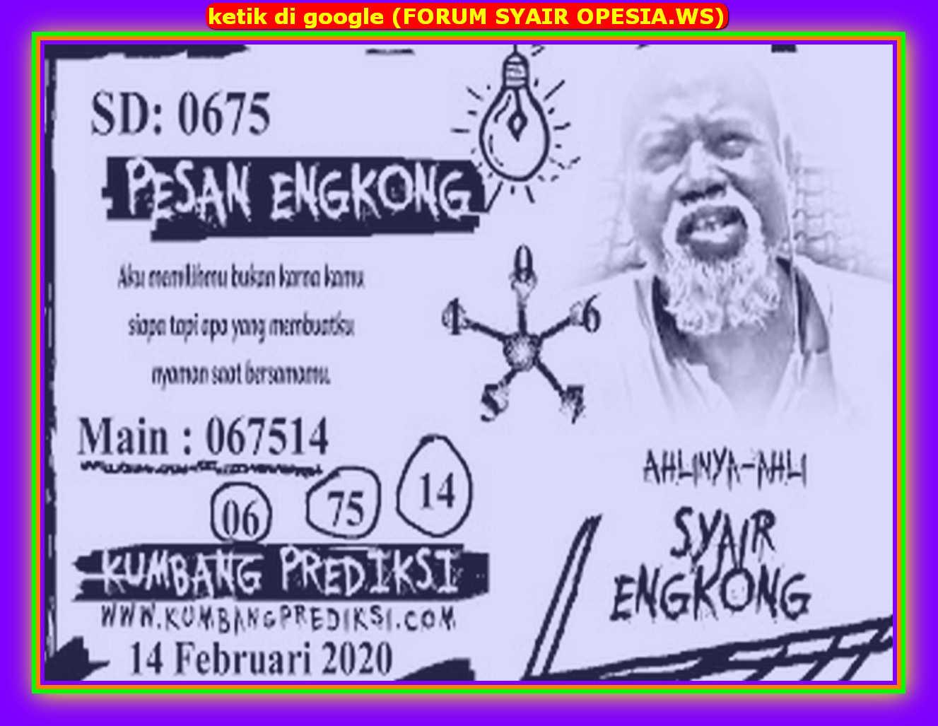 Kode syair Sydney Jumat 14 Februari 2020 57
