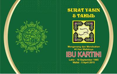 Cover Buku Yasin CDR Warna Hijau