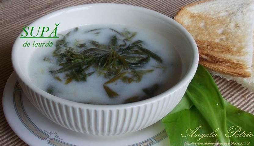 Reteta supa de leurda, preparat supa de leurda