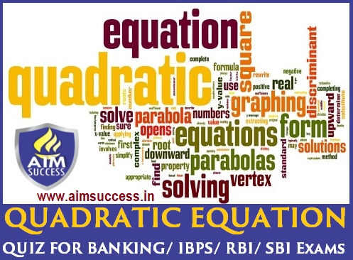 Quadratic Equations MCQ for Exams