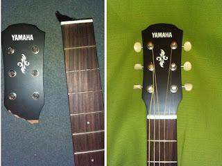реставрация головки грифа гитары
