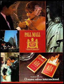 cigarros Pall Mall; Souza Cruz decada de 70; propaganda anos 70; história decada de 70; reclame anos 70; propaganda cigarros anos 70; Brazil in the 70s; Oswaldo Hernandez;