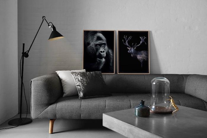 annelies design, webbutik, webshop, nätbutik, inredning, inredningsbutik, chicura, gorilla, apa, svartvit, svartvitt, svart och vitt, svartvita, tavla, tavlor, fotokonst, tavelvägg, poster, posters, fotografier, foto, vardagsrum,