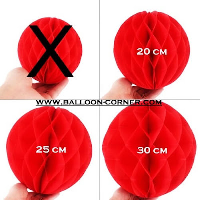 Honeycomb Ball Ukuran 20, 25,30 Cm (MURAH)