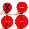 Honeycomb Ball Ukuran 20, 25, 30 Cm (MURAH)