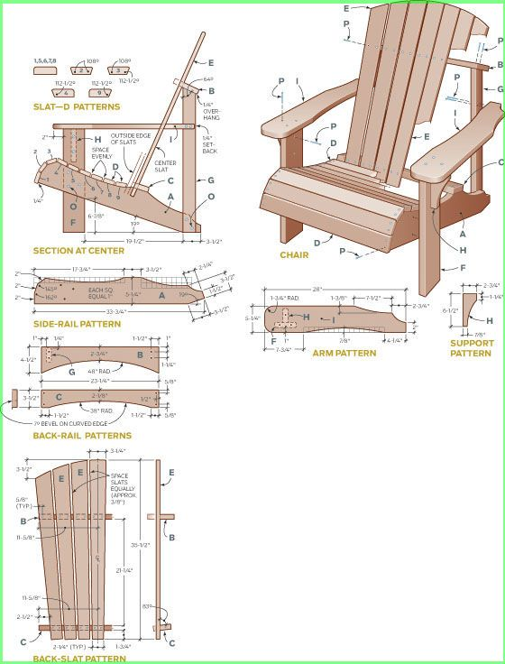 Adirondack Chair Plans Free Templates Resume Business