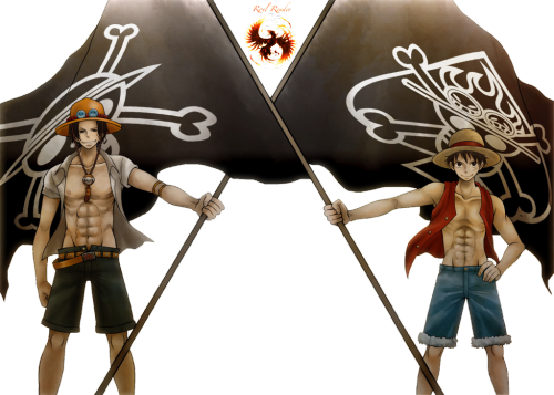 PNG-- Ace And  Luffy