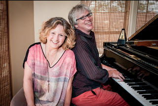 Robert Muller at the piano with Lisa Keating