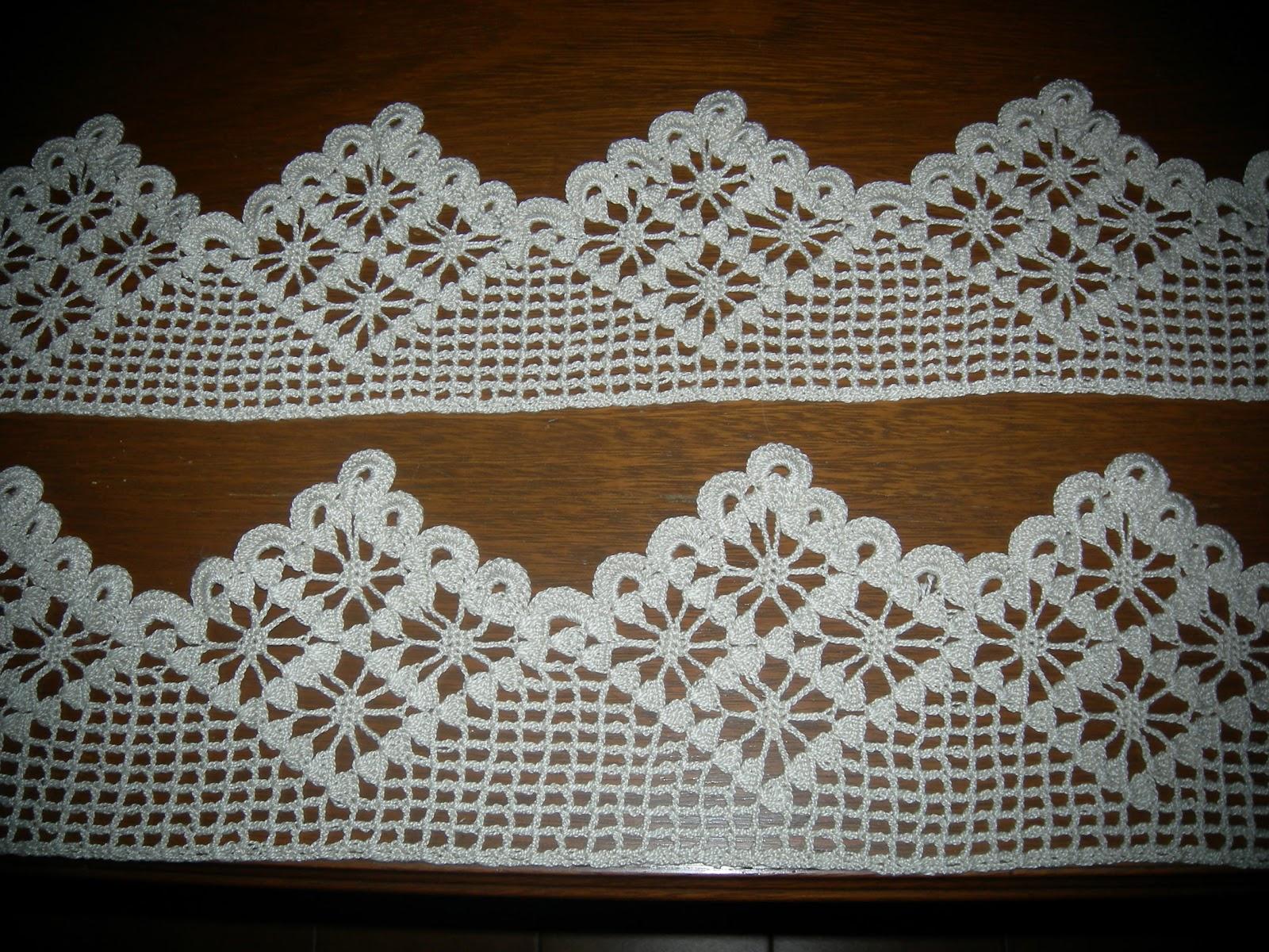 Arte gabrielle tejido crochet ganchillo puntillas en pico - Puntillas para cortinas ...