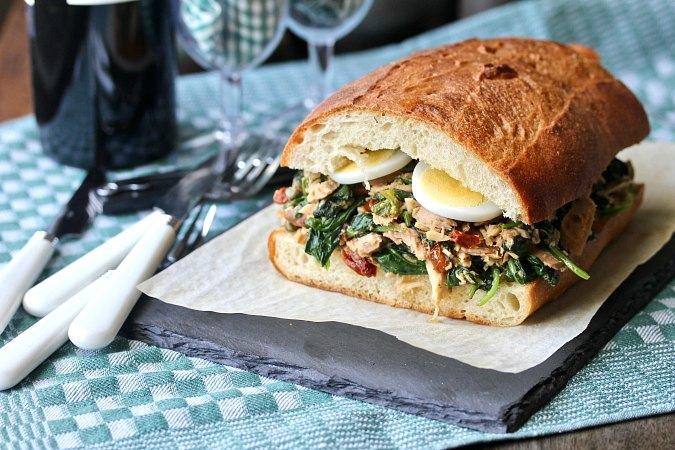 Sicilian Tuna Salad Sandwich