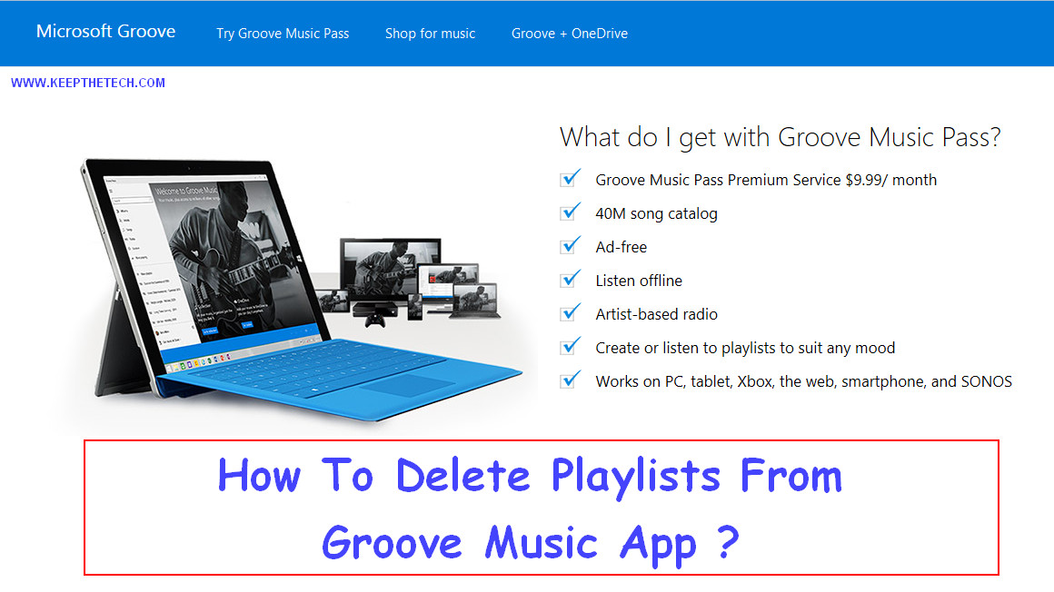 How to Delete Playlists on Groove From Windows 10 | KeepTheTech