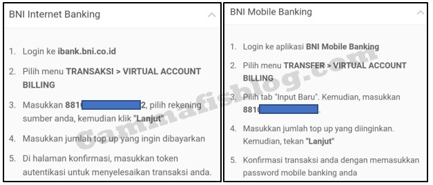 Cara Top Up Dana melalui Bank BNI