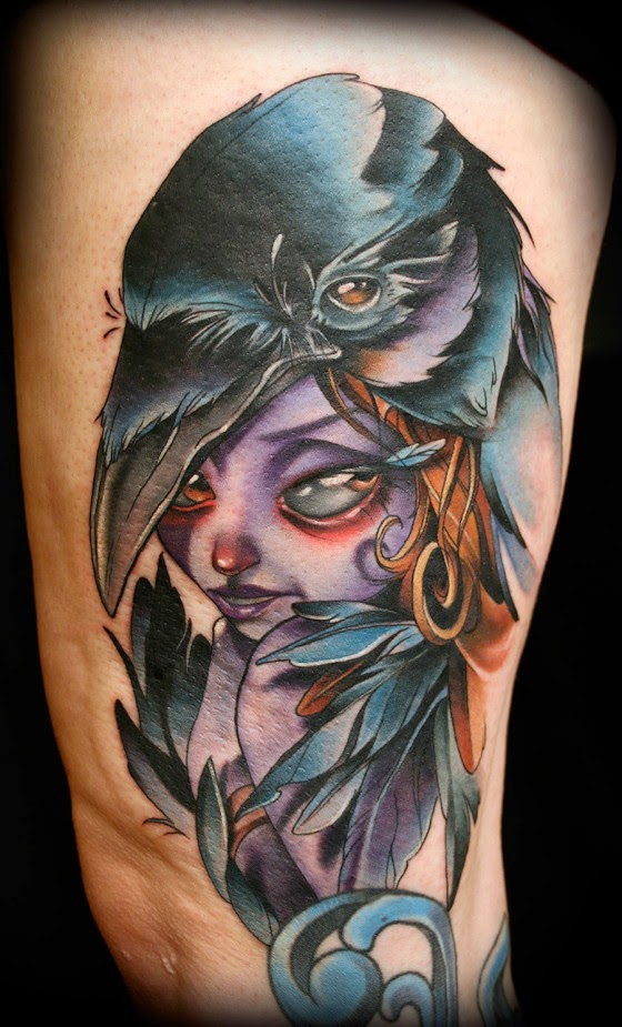 Dise os new school historia y caracter sticas belagoria for Ravens face tattoos