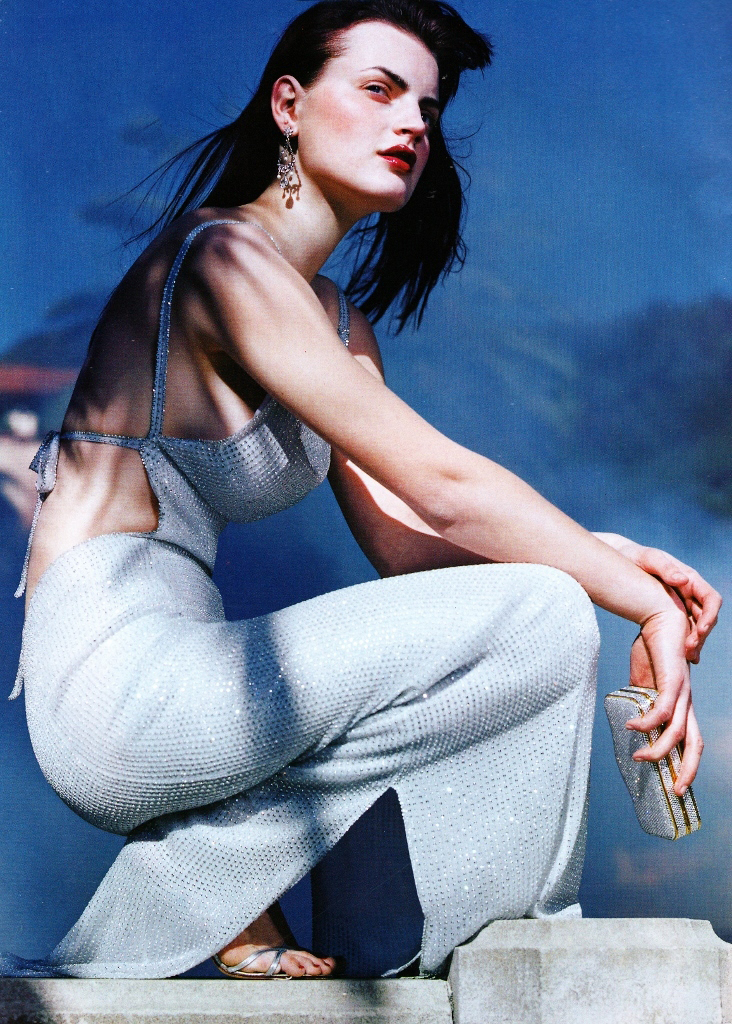Mila Schon in Vogue US February 1998