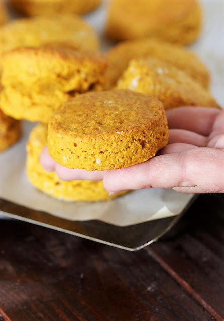 Pumpkin Biscuits not rolled thick enough image