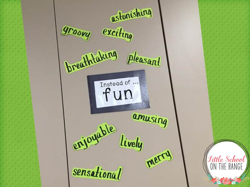 Little School On The Range: Goodbye Word Wall