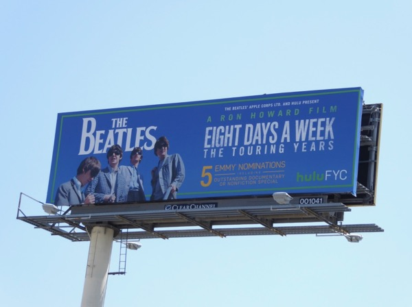 Beatles Eight days week Emmy nominations billboard