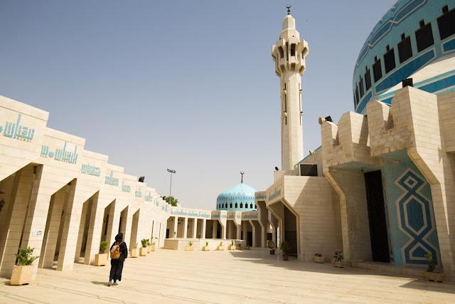 Exterior de la Mezquita del Rey Abdala desde dentro del recinto