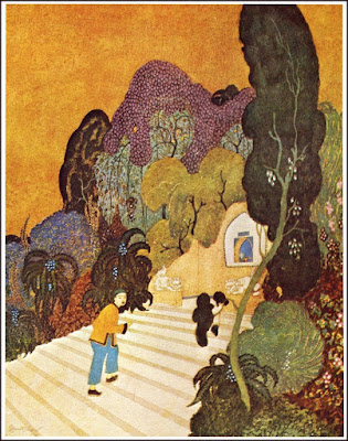 Aladdin heading to the lamp  Edmond Dulac