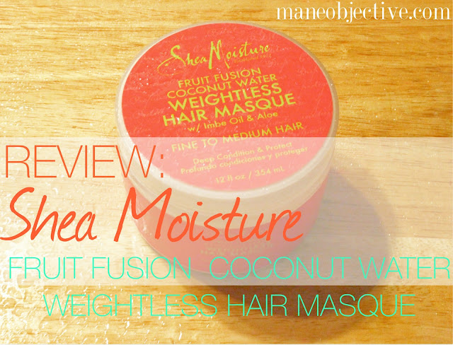 Shea Moisture Fruit Fusion Coconut Water Weightless Hair Masque Review