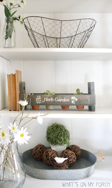 How to Decorate a Bookshelf for Spring